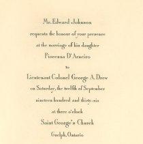 Image of 1997.22.1 - Invitation, Wedding