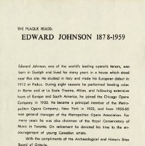 Image of Text Printed on the Plaque for Edward Johnson, p.1
