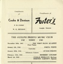 Image of Gueph Presto Music Club Concert Series, 1945-46, p.3