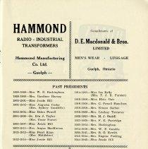 Image of Past Presidents of Presto Music Club, 1898-1945, p.7