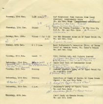Image of List of Engagements, page 2