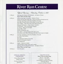 Image of Official Opening Program, October 4th, 1997, p.3