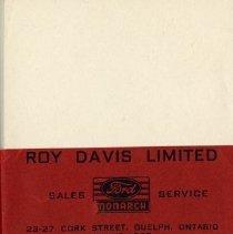 Image of Index Cards, Roy Davis Limited
