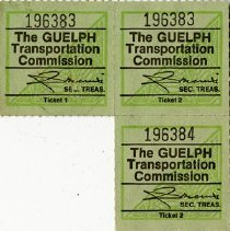 Image of Gueph Transportation Commission Senior Fare Tickets
