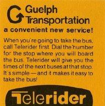 Image of G.T.C. Telerider Card