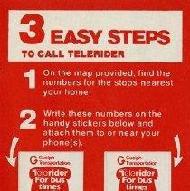 Image of Telerider Information Sticker, 1982