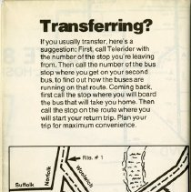 Image of Back of Brochure with map.