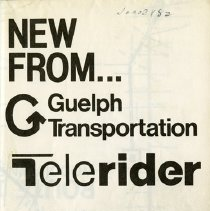 Image of .1 Guelph Transportation Telerider Booklet
