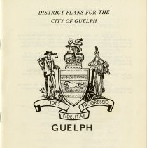 Image of District Plans for the City of Guelph, January 1974