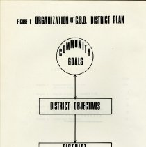 Image of Figure 1, Organization of  C.B.D. District Plan, page iii