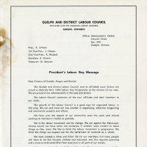 Image of Guelph & District Labour Council, 1969