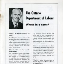 Image of Message from Ontario Department of Labour, p.31