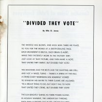 """Image of Poem, """"Divided They Vote,"""" by Ellis O. Jones, p.37"""