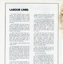 """Image of """"Labour Lines,"""" by Ken Woods, p.40"""