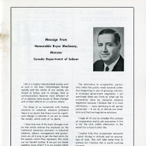 Image of Message from Hon. Bryce Mackasey, p.15