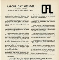 Image of Labour Day Message, Ontario Federation of Labour, p.25