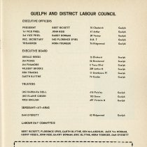 Image of Executive of Guelph & District Labour Council, p.5