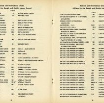 Image of Unions Affiliated to the Guelph & District Labour Council, pp.38-9
