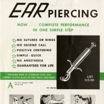 Image of .25 - Advertisement for Ear-Piercing Instrument