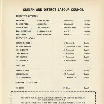 Image of Executive of Guelph & District Labour Council, p.13