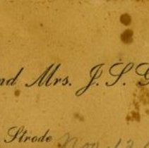 Image of Calling Card for Mr. & Mrs. J.S. Gilbert