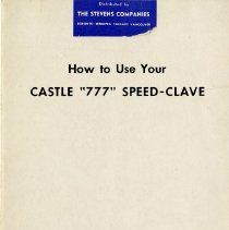 "Image of .2 - Booklet, ""How to Use Your Castle 777 Speed-Clave"""