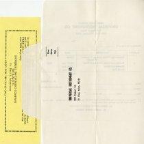 Image of .26 - Reverse side of Order Form Envelope