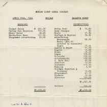"""Image of Balance Sheet for """"Elijah,"""" April 28, 1964"""