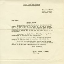Image of Notice of General Meeting, June 14, 1964