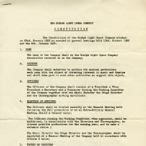 Image of Guelph Light Opera Company Constitution, 1964