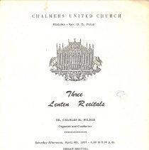 Image of Chalmers Lenten Recital '57 p1