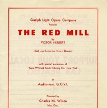 "Image of Program, ""The Red Mill"" by Victor Herbert, 1959"
