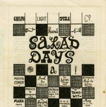 "Image of Program, ""Salad Days,"" May 1962"
