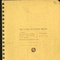 Image of No. V-2527 Account Book, p.1