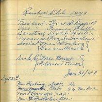Image of Rainbow Club Executive, 1949