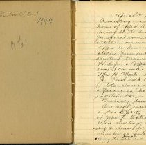 Image of Book No.1, First Entry, April 25, 1944