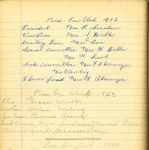 Image of Pica Em Club Lists of Executive for 1952, 1953, 1954