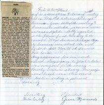 Image of Death Notice of member, Hazel Sinclair, February 15, 1993