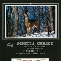Image of Schell's Garage Calendar, 1987