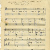 """Image of .1 - """"King and Queen of Hearts,"""" Sheet Music, p.1"""