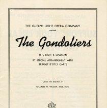 "Image of Program, ""The Gondoliers"""