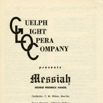 "Image of Program, ""Messiah,"" December 13, 1965"