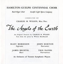 Image of Title Page of Program, 1967