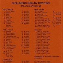 "Image of ""Chalmers Organ, 1919-1975"""