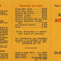 Image of Social and Co-Ed Activities, Membership Fees, side two