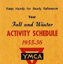 Image of Y.M.C.A. Activity Schedule, 1955-56