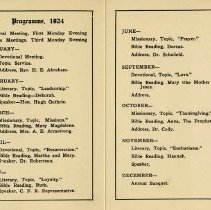 Image of Daughters of St. Andrew's Programme for 1924