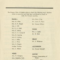 Image of Acknowledgements, Back Cover