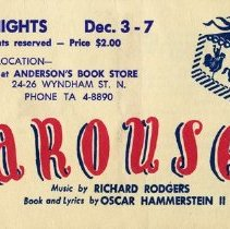 Image of Advertising Postcard for Carousel
