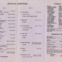 Image of Festival Showtime program, side 1